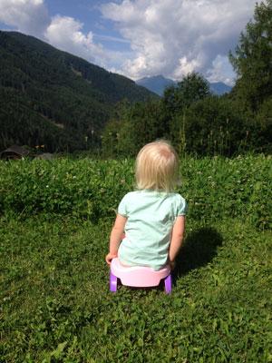 en lagom potträning ålder är mellan 18-24 månader.